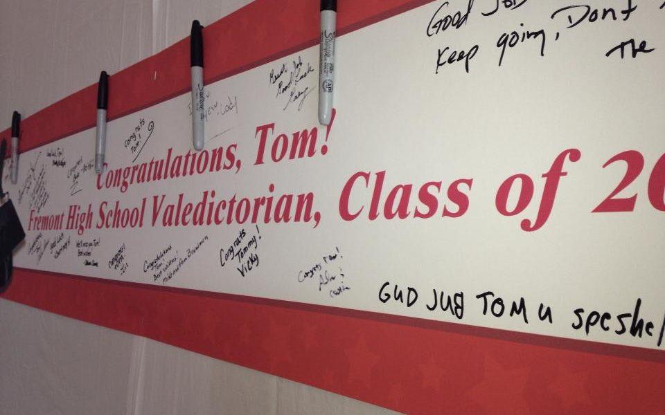 Tom's Grad Banner